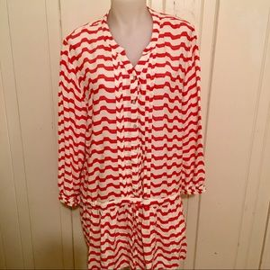 Anthropologie Isabella Sinclair Dress -L red white
